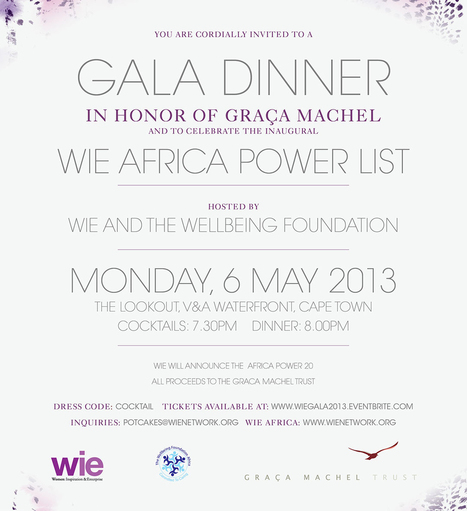 Join VIVID in supporting WIE Africa Gala Dinner with Graca Machel! | The Vivid Luxury Blog | WIE Africa | Scoop.it