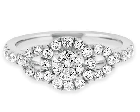 VR1008 0.81 Carat Halo Diamond Ring | Bespoke Diamonds | Engagement Rings Dublin | Scoop.it