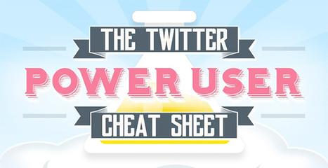 The Twitter Power User Cheat Sheet: 20+ Stats to Improve Your Presence | Social Mediapalooza | Scoop.it