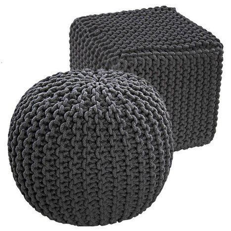 Knitted Pouffes and  Cubes Patterns   Home Decoration   Scoop.it
