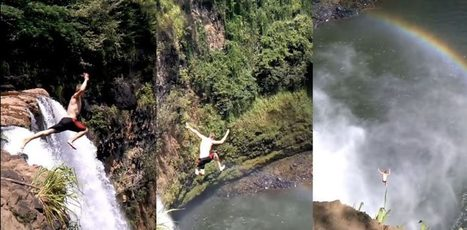 Dude Jumps Off Massive Waterfall in Hawaii and is Knocked Unconscious | KTC Hawaiian - Kapo Trading Company | Hawaii | Scoop.it