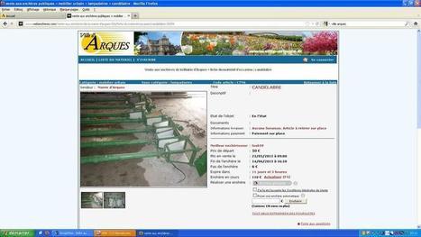 La ville d'Arques vend une partie de ses biens aux enchères sur Internet | Revue de presse | Scoop.it
