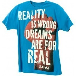 2Pac Power of Dreams T-Shirt turquoise T.A.S.F. 2pac Store | Authentic 2pac gear | 2pac shirt | Scoop.it