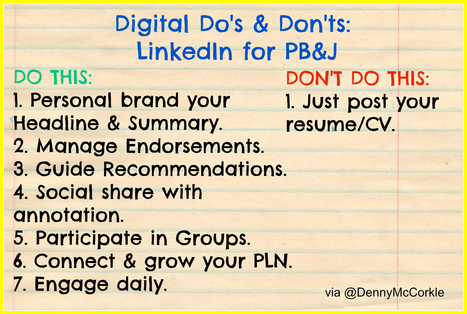 Do's & Don'ts When Using LinkedIn for Personal Branding & Job Search | The Making of The 21st Century Salesperson | Scoop.it