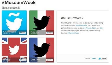 #MuseumWeek, une semaine pour (re)découvrir les musées sur Twitter   Tout savoir sur Twitter   Scoop.it