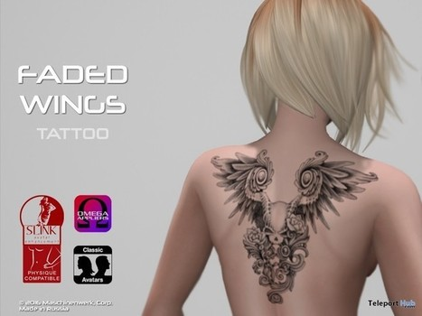 Faded Wings Tattoo Gift by MWC | Teleport Hub - Second Life Freebies | Second Life Freebies | Scoop.it