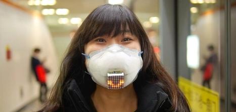 Un masque anti-pollution équipé d'un écran pour véhiculer vos émotions | Fact. Disruptive Transmedia Network | Scoop.it