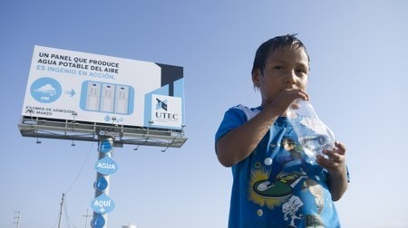 Water-producing billboard designed to inspire   T4C Architecture   Scoop.it