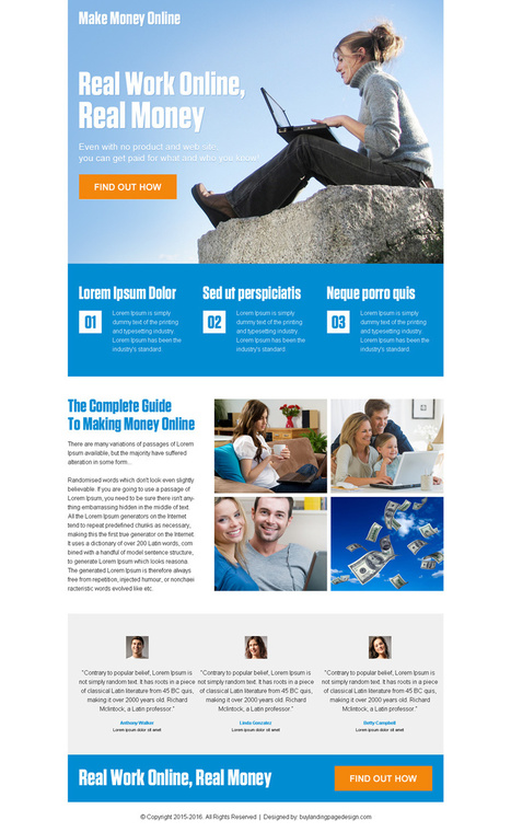 make-money-online-ppc-landing-page-08 | Make Money Online landing page design preview. | converting and effective landing page designs | Scoop.it
