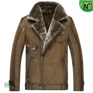 Mens Leather Shearling Jacket CW877049 | Men's | Scoop.it