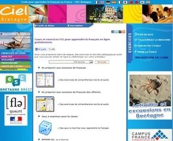 Cours et exercices FLE pour apprendre le français en ligne - blog*spot | Ressources pédagogiques en ligne | Scoop.it
