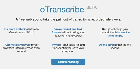 oTranscribe -  Free App to transcribe interviews | Bibliotecas Escolares & boas companhias... | Scoop.it