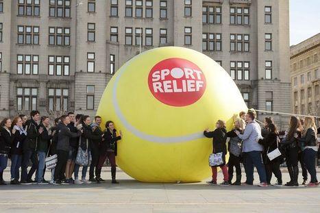 David Lloyd: Sport Relief Giant Tennis Ball | My Social Media, Design & Digital Portfolio | Scoop.it