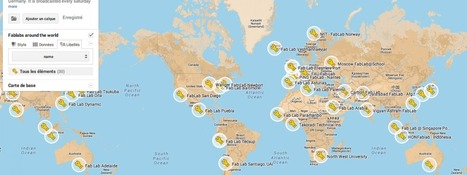 Carte du monde des Fablabs | Fab-Lab | Scoop.it