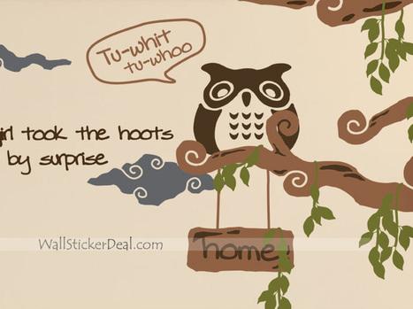 Little Owl Animals Stickers – WallStickerDeal.com   Birds & Animals Wall Stickers   Scoop.it