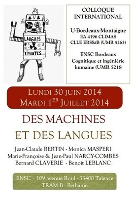 Des machines et des langues : Bordeaux, juin 2014 | TELT | Scoop.it