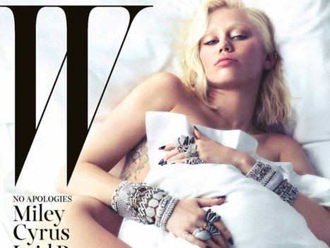Miley Cyrus On 'W' Cover — Hair & Makeup Look: So Different For ... | Awesome news | Scoop.it