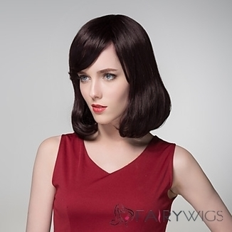Stylish Full Bang Capless Vogue Human Virgin Remy Hand Tied-Top Short Wavy Hair Wig : fairywigs.com | African American Wigs | Scoop.it
