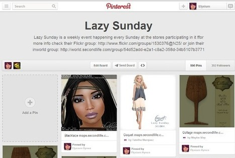 Lazy Sunday pins | 亗 Second Life Freebies Addiction & More 亗 | Scoop.it