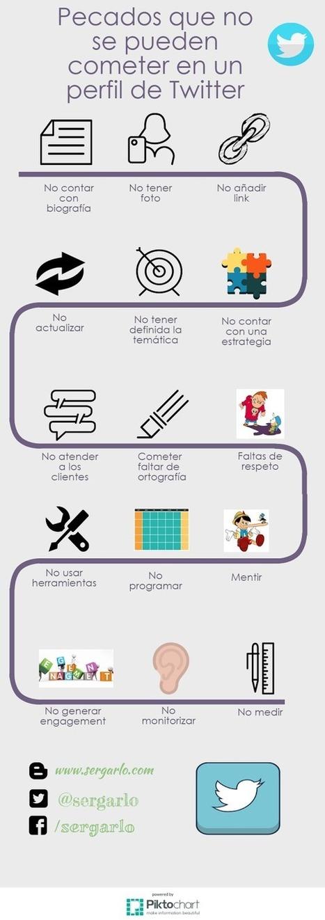 El Rincón de Sergarlo: [Infografía] Pecados que no se pueden cometer en un perfil de Twitter | TIC | Scoop.it