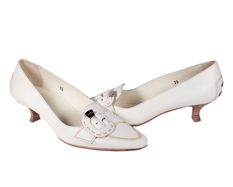 Tods Shoes for Women White Leather Low Heels (TDW12)   Online Shopping   Scoop.it
