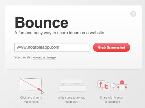 Bounce – A fun and easy way to share ideas on a webpage | Uppdrag : Skolbibliotek | Scoop.it