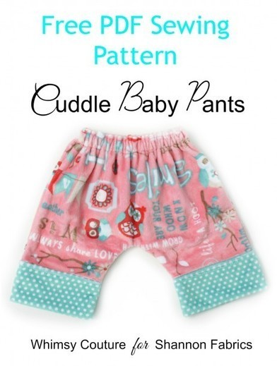 Free Baby Cuddle Pants PDF Sewing Pattern - Pattern Marketplace by DIY Crush | knooking | Scoop.it