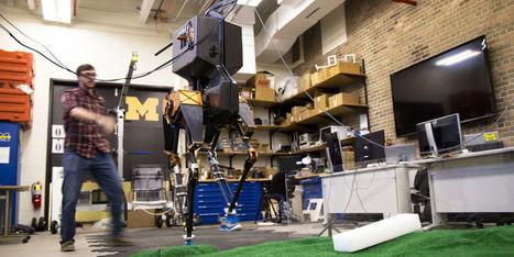 MARLO, le robot bipède du Michigan qui arpente des terrains difficiles - H+ MAGAZINE | Une nouvelle civilisation de Robots | Scoop.it