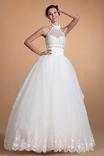 [EUR 199,99] Carlyna 2014 Nouveauté Halter Dentelle Perles Robe de Mariée (C37141707) | robe de mariée, robe de soirée | Scoop.it
