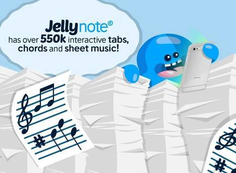 Jellynote - partitura, tablatura, acordes y covers | Llenguatge musical i ORFF | Scoop.it