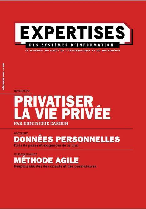 Dominique Cardon, privatiser la vie privée - Expertises des systèmes d'information   Clic France   Scoop.it