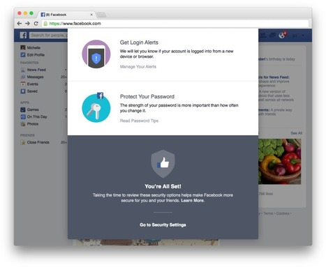 Facebook is enhancing Security with a Quick Checkup | MarketingHits | Scoop.it