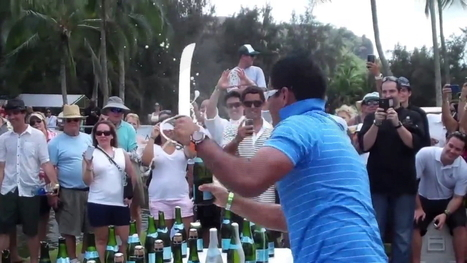 Kauai man sets Champagne saber record | The Champagne Scoop | Scoop.it