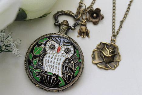 Alice in Wonderland  Antique OWL Pocket Watch by emilymoon2003 | Alice in Digiland | Scoop.it