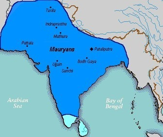 Mauryan-Empire.gif (396x333 pixels) | Year 7 History - Ancient India: The Mauryan Empire | Scoop.it
