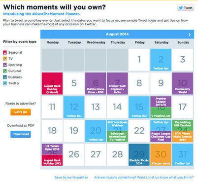 Twitter lance Planthemoment, un outil pour aider les marques à s ... - Journal du Net | microblogging&apprentissage | Scoop.it
