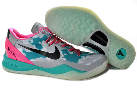 Mens (Grey/Green/Pink/Black) Nike Zoom Kobe VIII(8) Basketball Shoes Release - Release Moment - Sale at Cheap Price $96.89 - kobe bryant 8 mens | Lebanon | Scoop.it