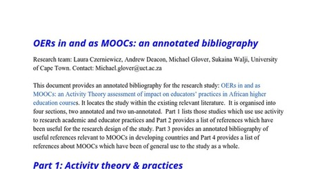 MOOC Impact Study literature review | Opening up education | Scoop.it