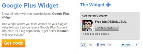 Widgets for Google Plus - Get in touch with your visitors | Time to Learn | Scoop.it