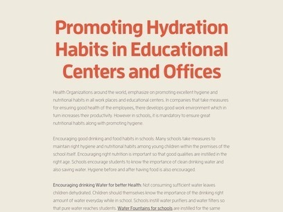Promoting   Hydration Habits in Educational Centers and Offices | Water Smart NW ltd | Scoop.it