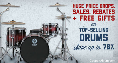 Get Up To 76% Top-Selling Drums At Musicians Friend! | Coupons & Deals | Scoop.it
