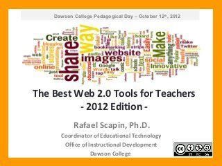 The Best Web 2.0 Tools for Teachers - 2012 Edition | tech to learn | Moodle and Web 2.0 | Scoop.it