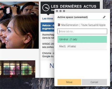 Spaces, un gestionnaire de fenêtres pour Chrome - MacGeneration | netnavig | Scoop.it