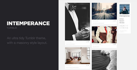 Intemperance – A Tidy Tumblr Theme Download | Tumblr Templates Download | Scoop.it
