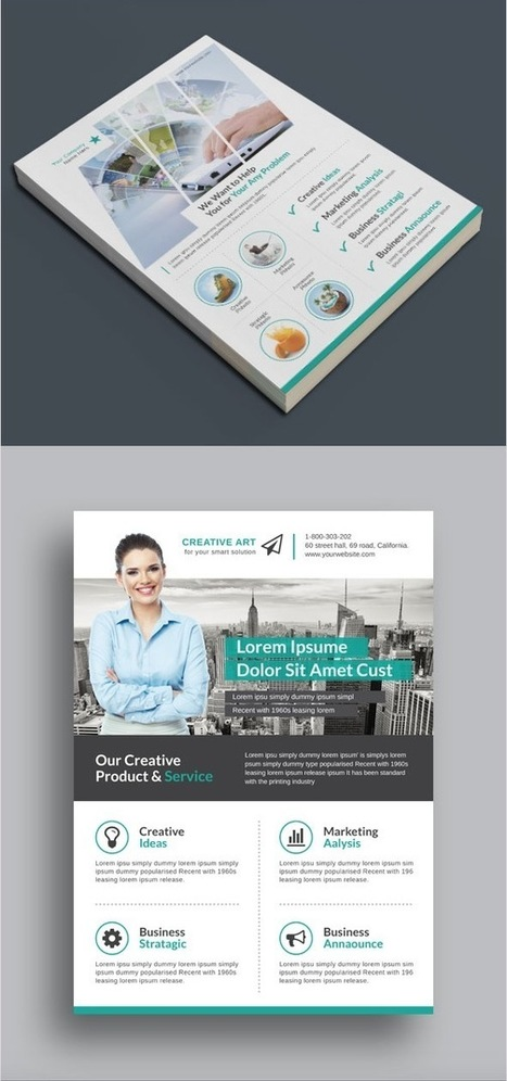 20 Business Flyer Templates With Creative Layout Designs - Envato Tuts+ Business Article | Mance Creative - Graphic and Website Design | Scoop.it