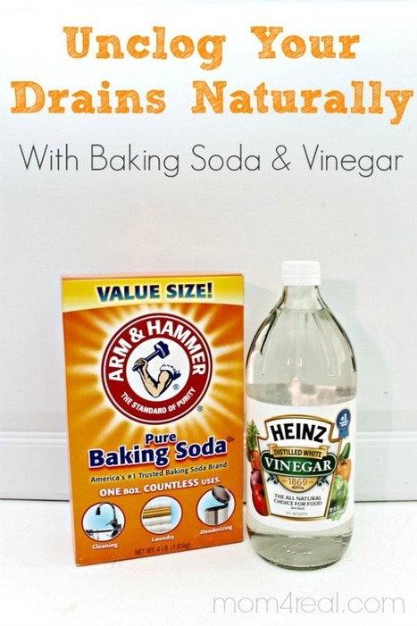 Unclog Your Drains With Baking Soda And Vinegar ~ Natural Cleaning Trick | ExtraWellness | Scoop.it