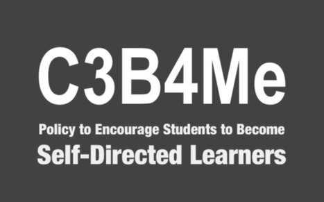 Try the 'C3B4Me' Policy to Encourage Self-Directed Learners | Flipped Writing | Scoop.it