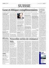 Luxe et éthique complémentaires | Agefi.com | Speakers & supporting organisations at Zermatt Summit | Scoop.it