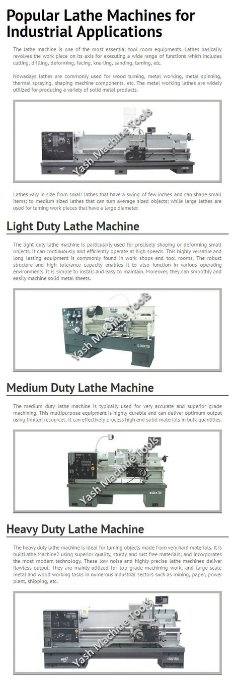 Popular Lathe Machines for Industrial Applications   Lathe Machines   Scoop.it