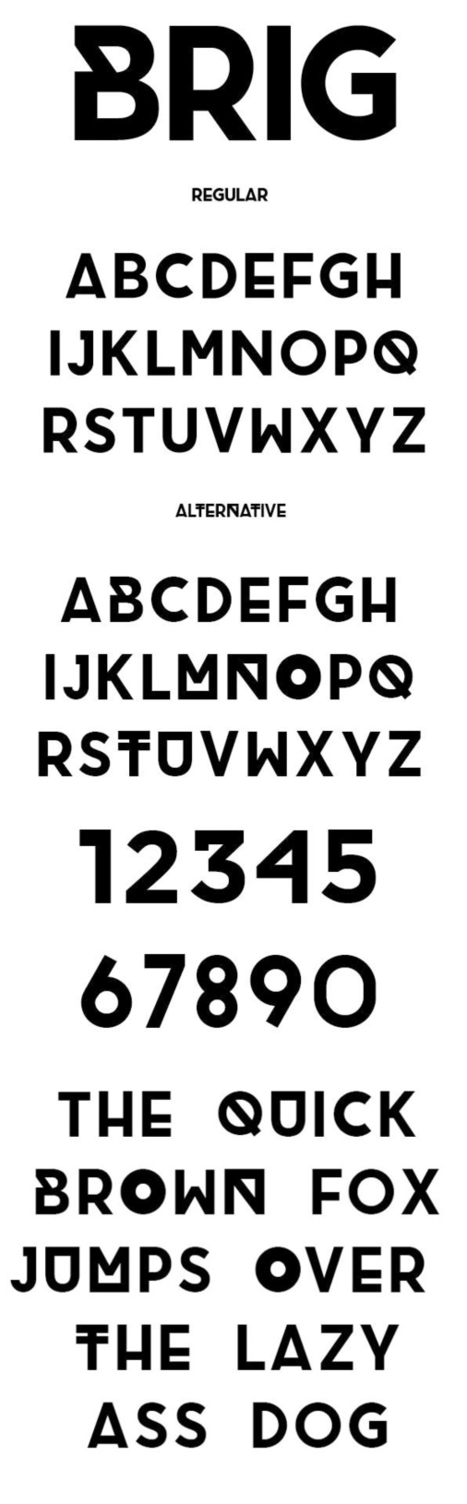 BRIG - Free Font | Web Design Freebies | Scoop.it